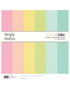 Kit de cartulina con textura Color Vibe - lights