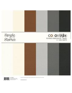 Kit de cartulina con textura Color Vibe - basics