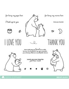 Mama Elephant sello Bear hugs