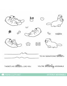 Mama Elephant sello Otterly adorable