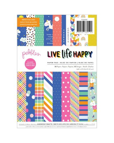 block de 15x20cm live life happy pebbles