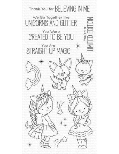 Sello mft unicorns and glitter