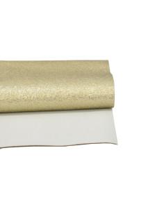 Ecopiel dorado Metal