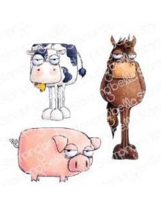 Sello Stampingbella Oddball Farm animals