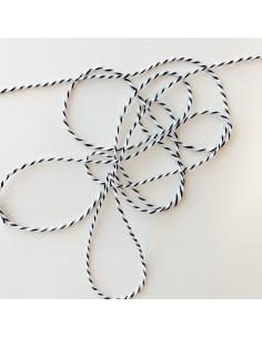 1m cordón algodón encerado marfil