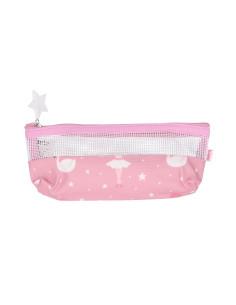 Bolsa cepillo de dientes arcoiris rosa