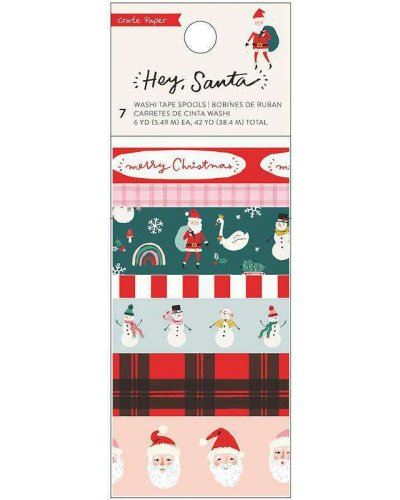 Washi Tape Hey, Santa crate paper