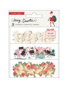 Confetti Set Mylar Hey, Santa crate paper