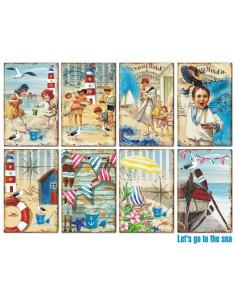 Paquete de tarjetas Let's go to the Sea