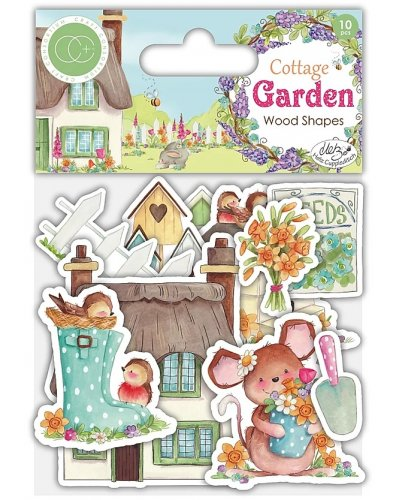 Adornos de madera Wood Shapes Cottage Garden