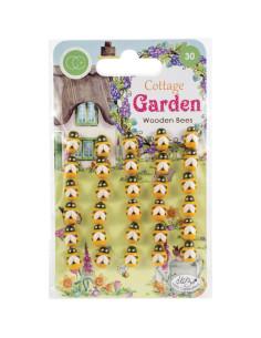 Mariquitas de maderaWooden Bees Cottage Garden