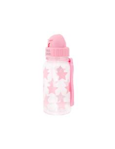 Botella Plástico Estrellas Rosa