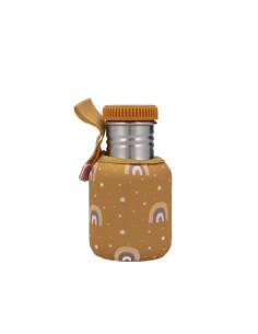 Botella Acero con Funda Arcoiris Mostaza 350ml