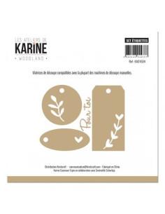 Troquel Woodland Set étiquettes de karine