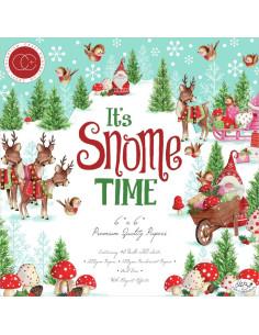 Bloc 15x15cm It's Snome Time