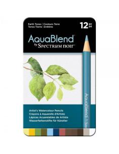 Lápices Spectrum Noir AquaBlend - Tonos tierra (12 piezas)