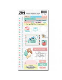 Hola de pegatinas Carnet de Route de Karine