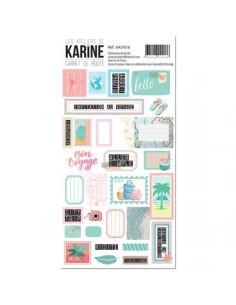 Hoja de pegatinas Carnet de Route de Karine