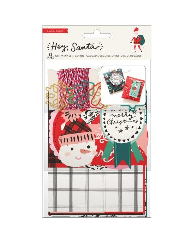 Set de papel de regalo Hey, Santa Crate Paper