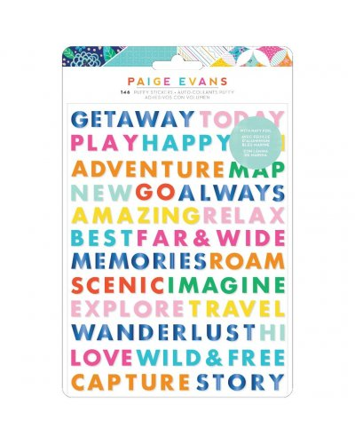 Pegatinas Puffy Go the Scenic Route Paige Evans