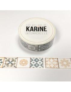 Washi Tape Azulejo Intemporelle de karine