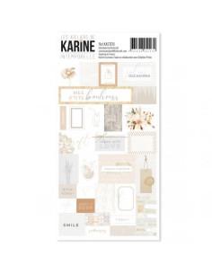 Hojas de pegatinas Etiquetas de karine