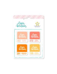 Pack tintas Peach de Lora Bailora