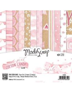 Kit 6x6 Pink cotton candy modascrap