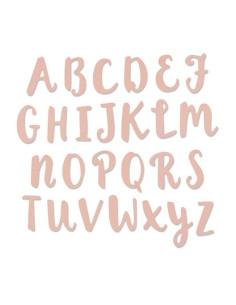 Thinlits Abc caligrafía pincel