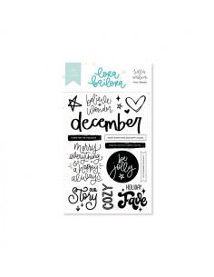 Sello Alfabeto Up&down bold de Lora Bailora