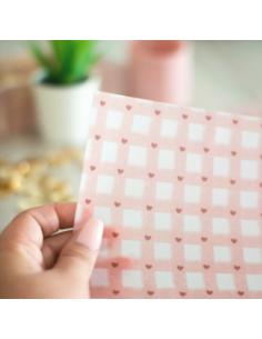 Papel cebolla impreso vichy Velvet