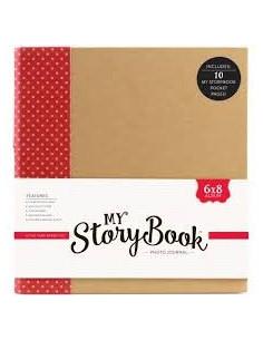 Álbum fotos con fundas Storybook rojo lunares