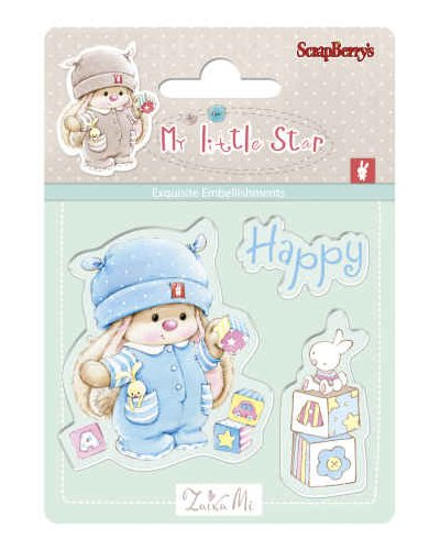 Sello basiks happy holiday de Scrapberrys