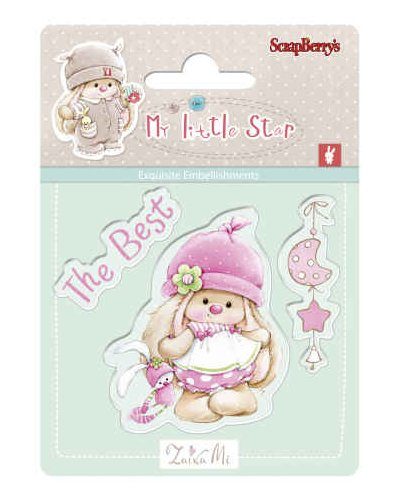 Sello bunny birthday de Scrapberrys