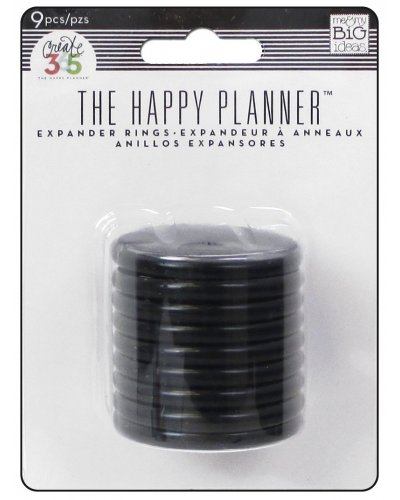 Happy planner anillas negras 1,75""