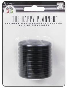 Grandes anillas negras happy planner