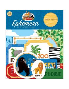 Troquelados frames and tags zoo adventures de cartabella