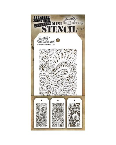 Set 46 mini plantillas de Tim Holtz
