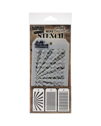 Set 15 mini plantillas de Tim Holtz
