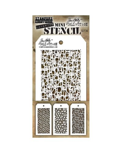 Set 34 mini plantillas de Tim Holtz