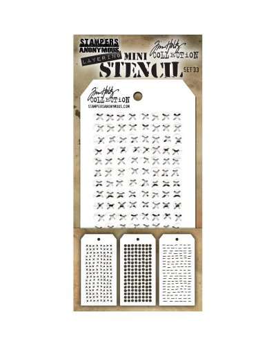 Set 40 mini plantillas de Tim Holtz