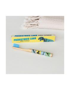 Cepillo de dientes de bambú rosa