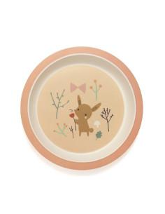 Plato bambú baby deer
