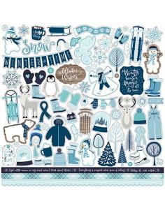 Hoja de pegatina Winter market de cartabella
