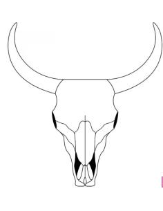 sello madera cabeza de búfalo