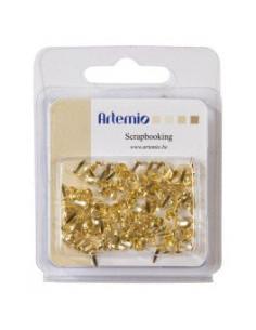 Encuadernadores 5mm dorados de Artemio