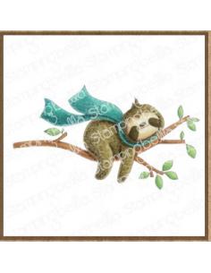 Sello Stampingbella Sloth on a branch