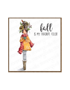 Sello Stampingbella Curvy girl loves autumn
