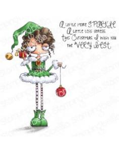 Sello Stampingbella Oddball girl elf