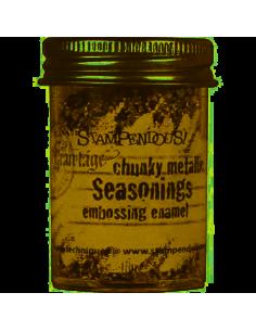 Polvo emboss chunky metallic de Stampendous